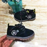 Short Martin Boots Casual Shoes For Boys And Girls - Black