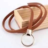 Ladies Fashion Wild Thin Belt - Light Brown