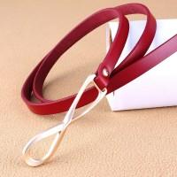 Ladies Simple Wild Fashion Thin Belt - Red
