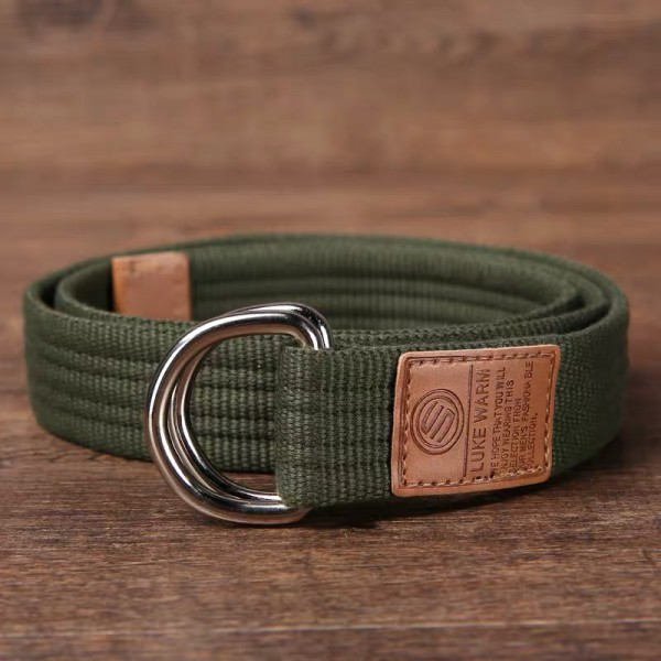 Unisex Canvas Casual Belt - Army Green