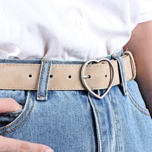 Ladies Heart Style Fashion Belt - Beige
