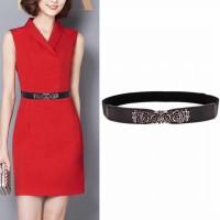 Ladies Fashion Elastic Belt - Black
