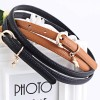Ladies Fashion Star Buckle Leather Belt - Brown