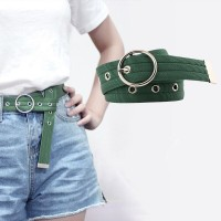 Ladies Casual Canvas Belt - Army Green