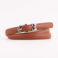 Ladies Fashion Bow Buckle Leather  Belt - Brown