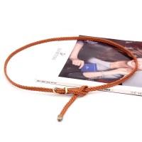 Ladies Fashion Hand Woven Belt - Brown