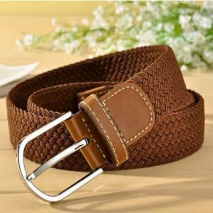 New Fashion Woman Hand Woven Belt - Brown