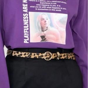 Ladies Fashionable Leopard Print Belt - Multi Color