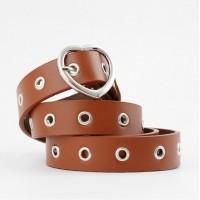 Ladies Heart Buckle Decorative Fashion Belt - Brown