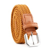 Women Woven Casual Belt - Light Brown