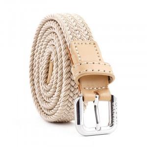Women Woven Casual Belt - Beige