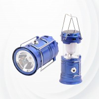 Camping Lantern  Usb Rechargeable Solar Energy Flash light - Blue