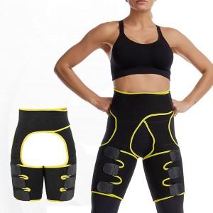 3 in 1 Adjustable Women Waist Hip Slimming Belt - Yellow