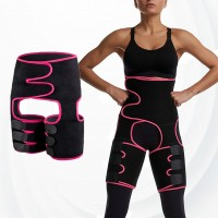 3 In 1 Adjustable Abdomen Hip Waist Slimming Belt - Rose
