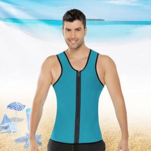 Mens Fitness Compression Singlet Quick Dry Vest - Sky Blue