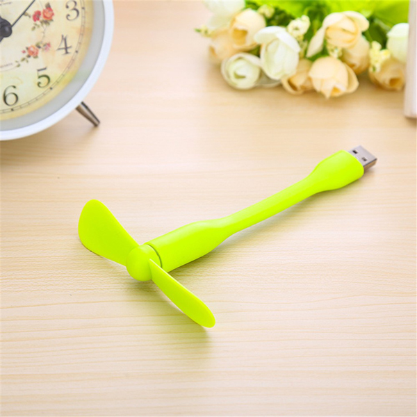 Portable Flexible USB Cooler Mini Cooling Fan - Green