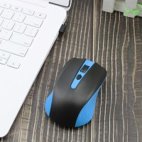 Bluetooth Smart Optical Wireless Mouse - Black Blue