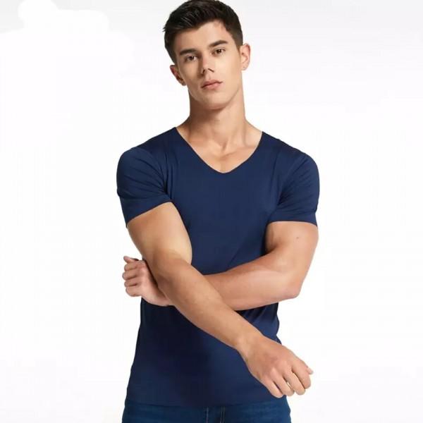 Short Sleeveless Top T-shirt For Man - Dark Blue