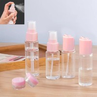 6 In 1 Travel Kit Empty Lotion Cosmetic Spray Case Bottle - Pink