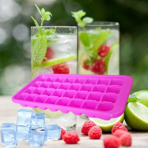 Durable Easy Twist 32 Cubes Ice Tray - Pink
