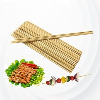 300 Pcs Strong Bbq Natural Bamboo Skewers - Brown