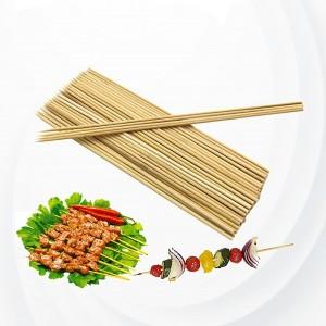 300 Pcs Strong Bbq Natural Bamboo Skewers - Brown