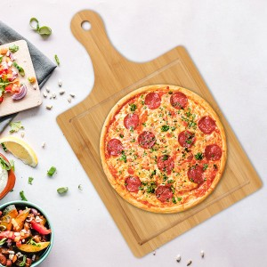 Square Shape Wooden Pizza And Fruit Plate - Brown