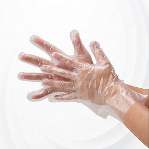 100 PCs Disposable Plastic Large Gloves - White