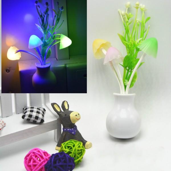 Induction Socket Mushroom Night Light - White