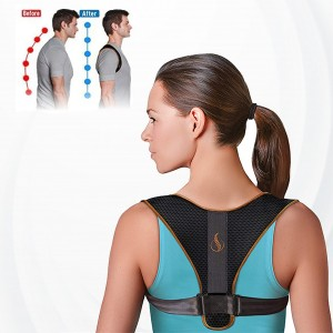 Adjustable Belt For Back Pain Relief And Bad Posture Correction - Black