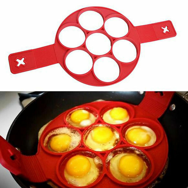 Round Shaper Perfect Pancake And Eggs Mould - Red
