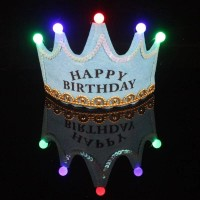 Birthday Party LED Glowing Cap - Sky Blue