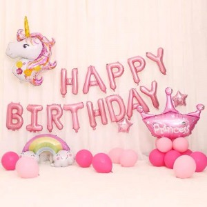26 Pcs Girls Birthday Party Decoration Balloons - Multi Color