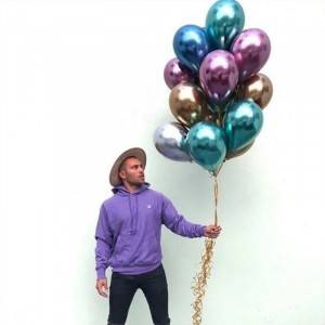 50pc 12 Inch Latex Thickening Metal Color Balloon