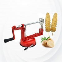 Manual Twisted Spiral Potato Slicer Cutter - Red