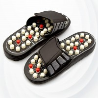 Feet Comfort Foot Massager Slippers - Black