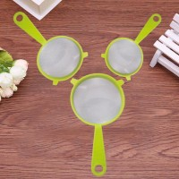 3 Pcs Multipurpose Strainers Flour Sifter Sieves Colander - Multicolor