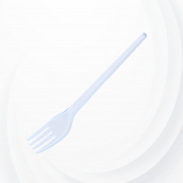 50 Pcs Plastic Table Fork - White