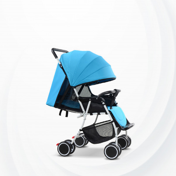 Foldable Light Weight Slim Strong Baby Stroller - Blue