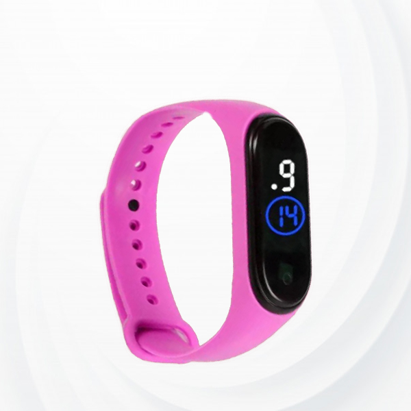 Led Sports Electronic Watch - Pink