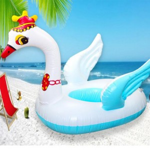 Children Swan Swimming Sitting Ring - Sky Blue