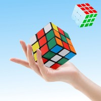 2 PCs Kids And Adults Rubik Magic Playing Cube - Multi Color