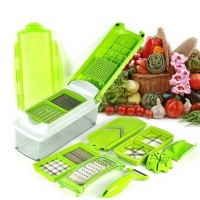 Multi Function High Quality 8 Pcs Fruit And Vegetable Cuter - Green