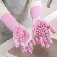 Multi Purpose Food Grade Silicone Dish Washing Gloves - Different Colors