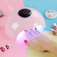 Professional Nail Polish Dryer With UV LED Lights - Pink