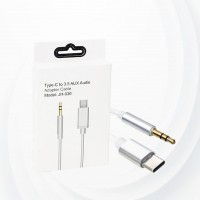 Type c To Aux Audio Adapter Cable - White