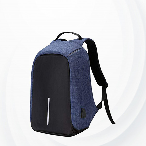 Anti Theft Backpack With Usb Charging Port - Blue