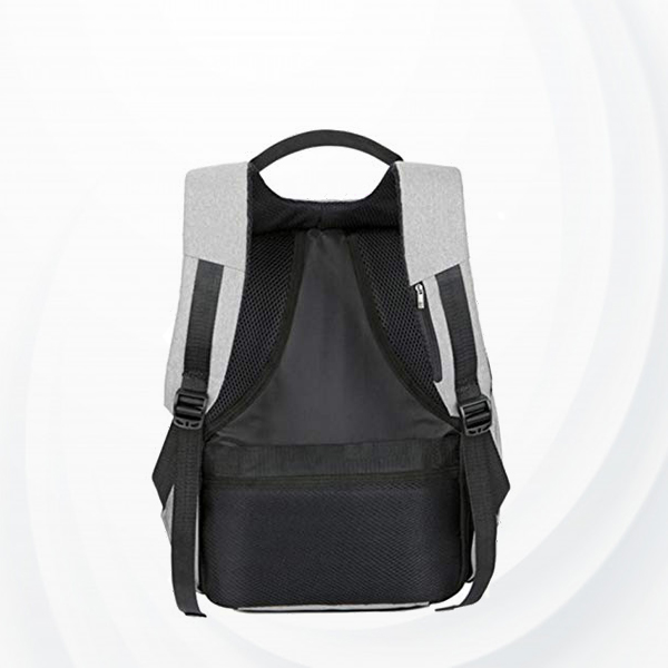 Anti Theft Backpack With Usb Charging Port - Grey