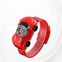 Cute Kids Car Shape Unisex Watch -Red