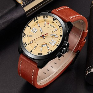 New Design Analogue Men Fashion Watch - Brown
